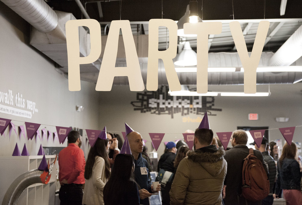 Party signage for our 1 yr Birthday event at The Skillery. March 2015 | Theme: Ink | Photo credit: Michaela M. Powell