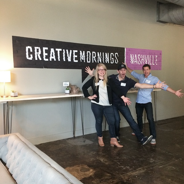 CreativeMornings post-it note signage I created for our first event held at The Skillery, featuring the fine owners of the co working space! Sept. 2014 | Theme: Color