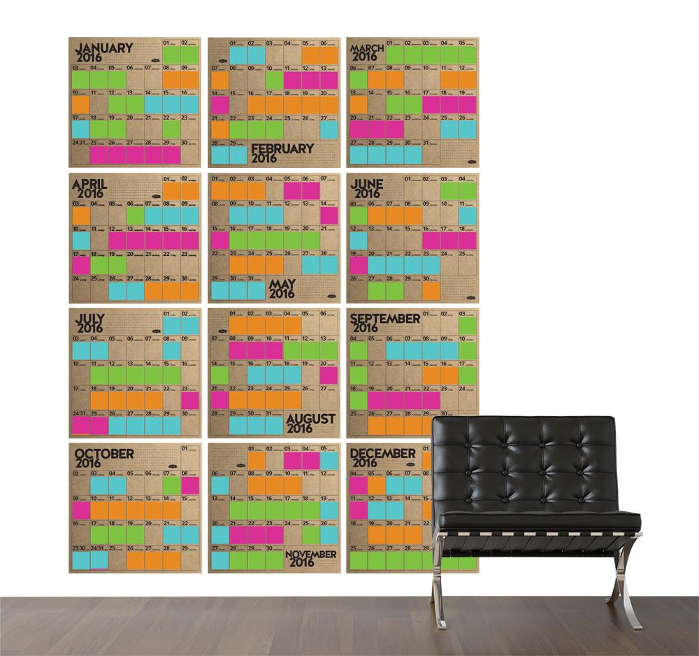 stoke.d wall calendar 2016