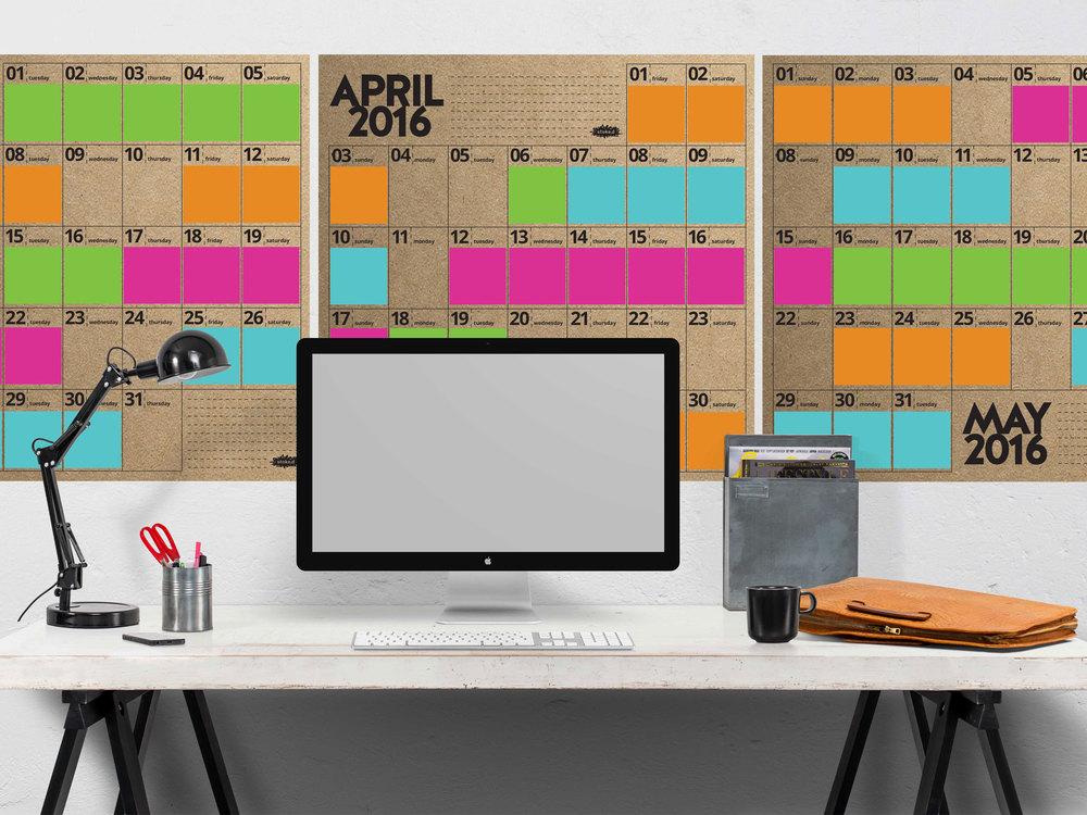 stoke.d oversized wall calendar