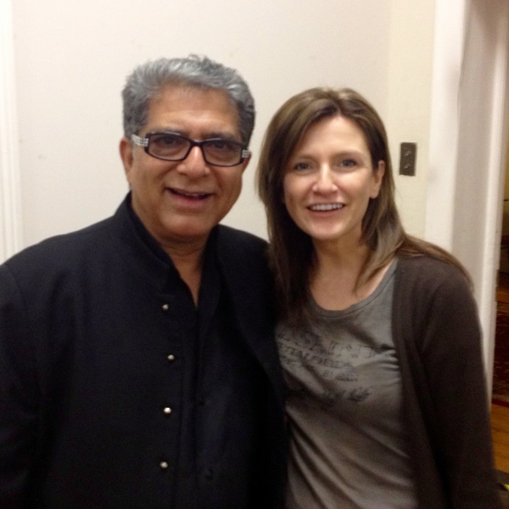 Deepak Chopra and Mary Callaghan