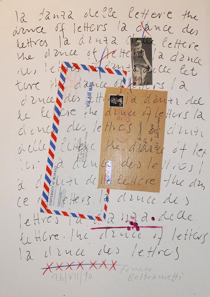 """Untitled (""""la danza delle lettere"""")"""