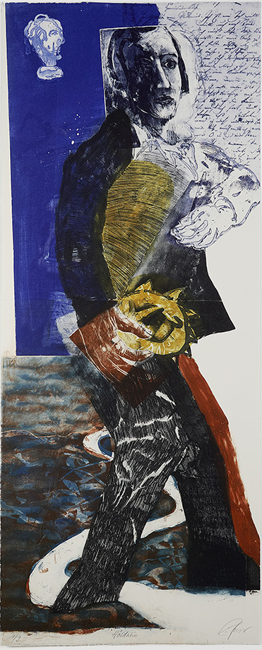 Hölderlin . Eckhard Froeschlin . 2010. Color etching, 28 x 72 in.