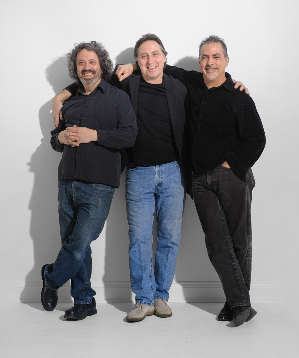 From left to right:  Tony Miceli (vibes), Paul Jost (vocals and harmonica), Kevin Gifford (bass)