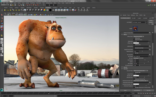 Actual 3D rendering on a computer