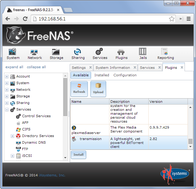 Here's what a typical NAS software looks like