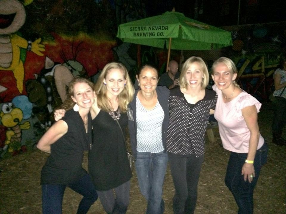 Fun with friends at the Elite Athlete Coordinator Richard Fannin's famed race after-party