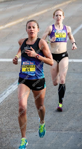 1.5 miles into the race, trying to hang on to Michelle Lilienthal