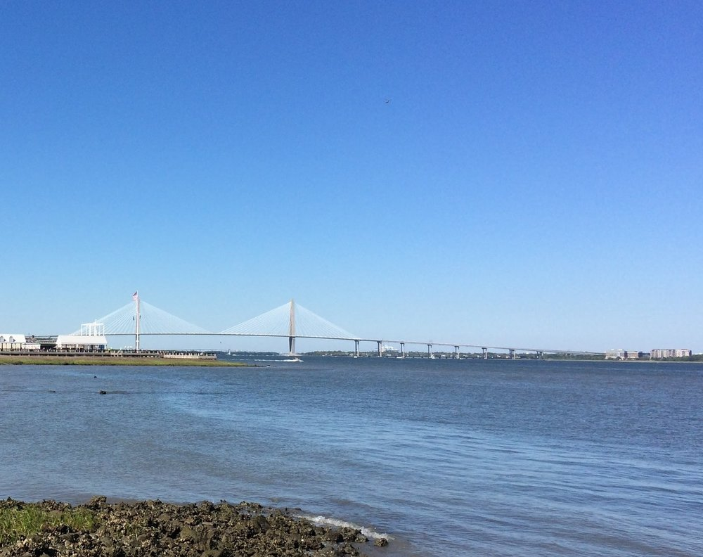 The 2 mile long Arthur Ravenel Jr. Bridge in the Cooper River Bridge Run
