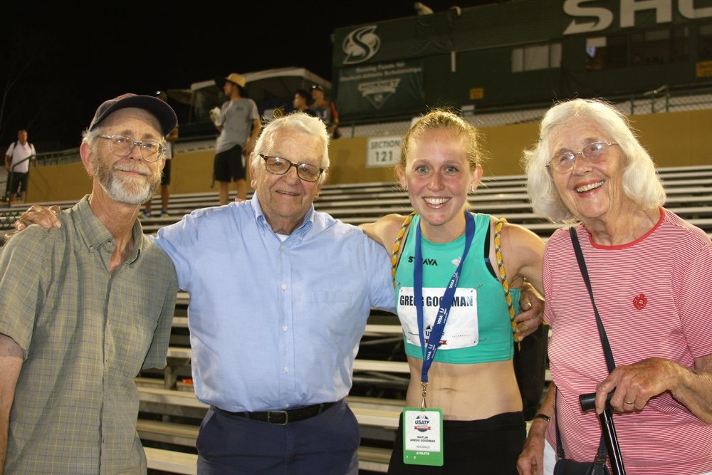 Post-USA's with family, still smiling despite a rough 25 laps.