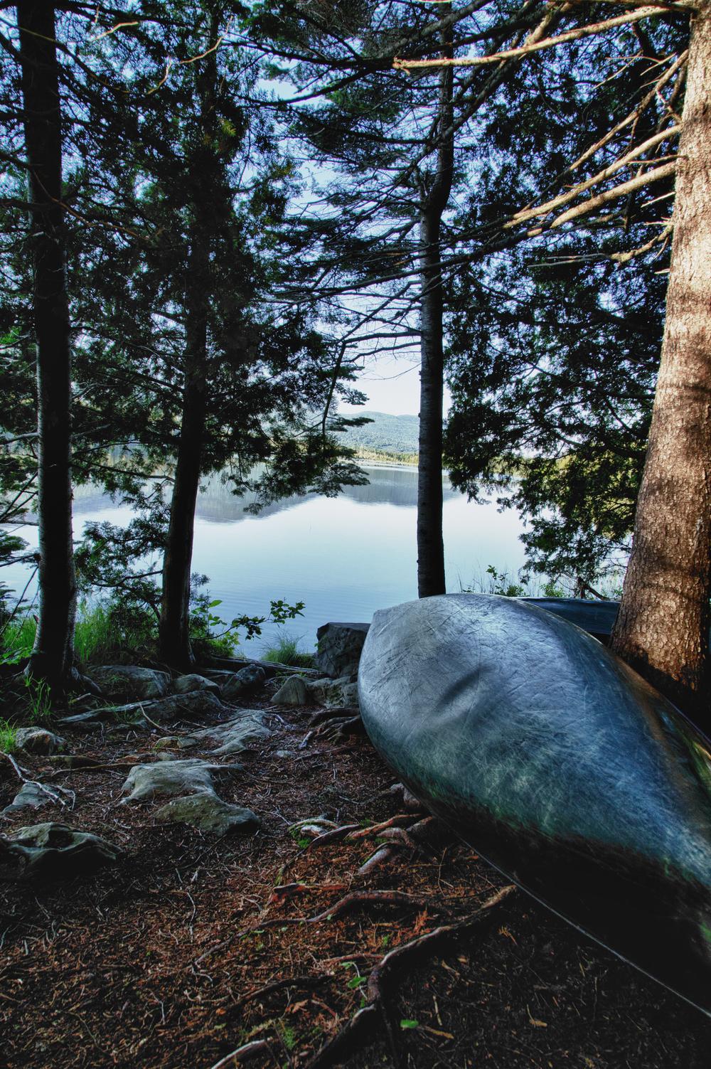 Canoe In Storage