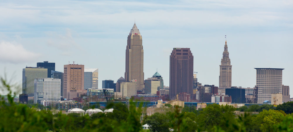 Cleveland skyline from Edgewater Park.