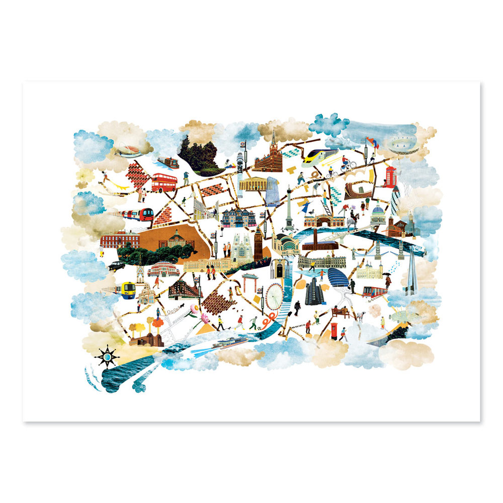 London Map Limited Edition Print Natsko Seki