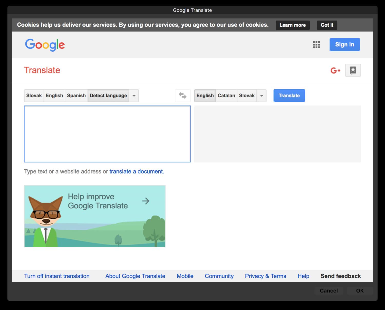 Google Translate Service with Automator — Distilled Studio