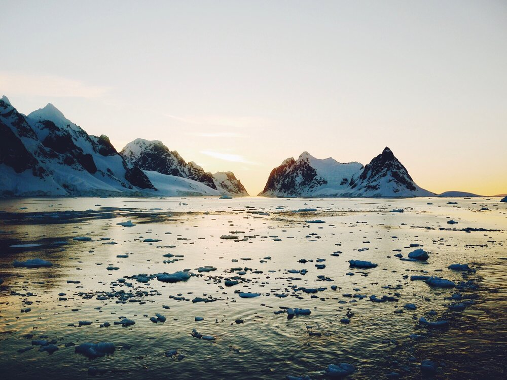peaceful sunsets of antarctica