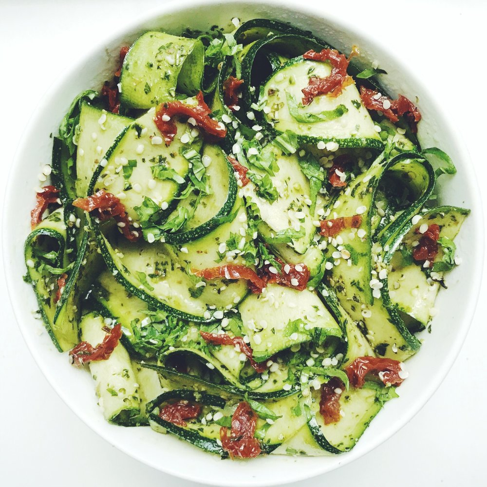 AVOCADO PESTO ZUCCHINI RIBBONS