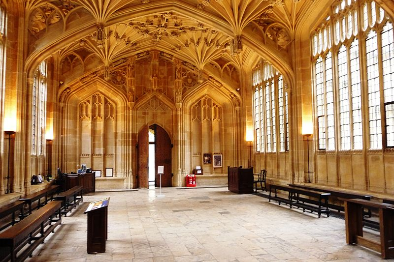 The Divinity School at the Bodleian Library is a fine example of late medieval architecture. Photo courtesy John Lord.