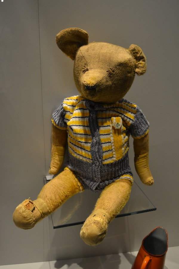 The teddy bear who survived a German artillery bombardment.
