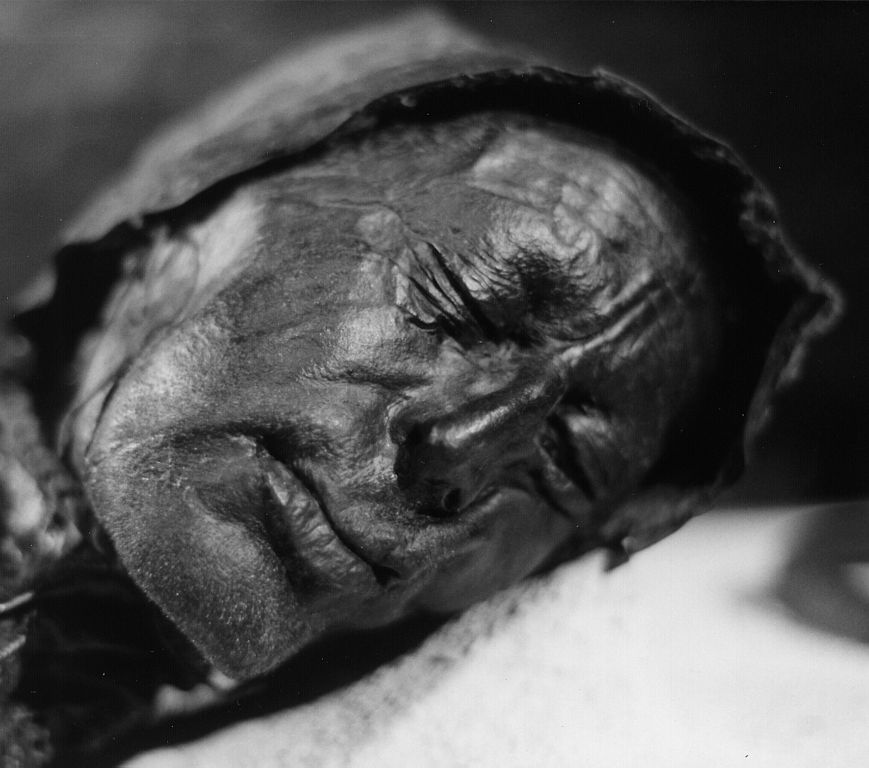 The face of the Tollund Man. Image courtesy Wikimedia Commons.