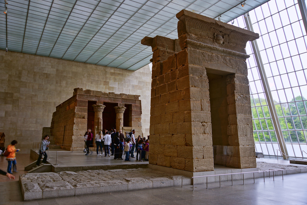 The Temple of Dendur in the Metropolitan Museum of Art, New York