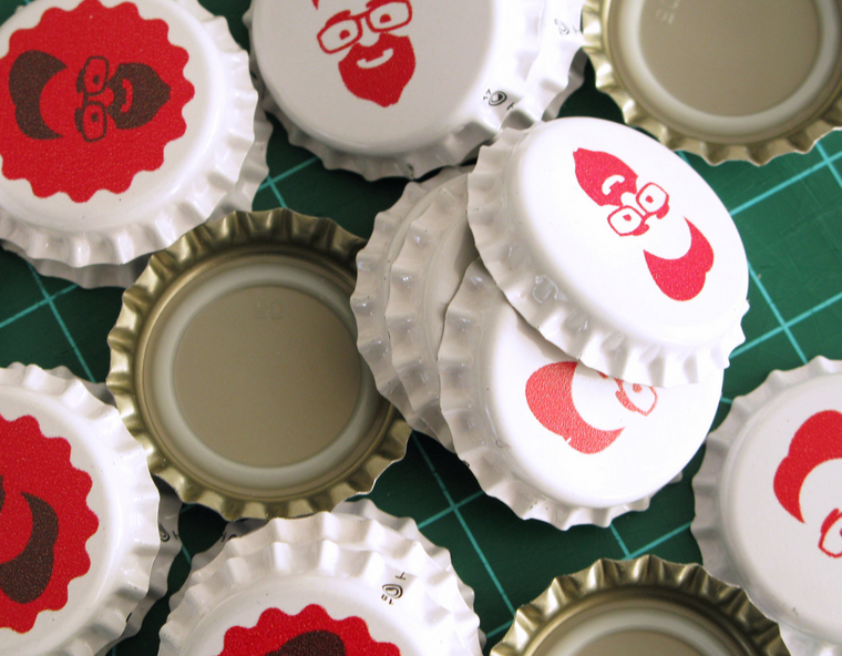 craft beer guide custom bottle caps