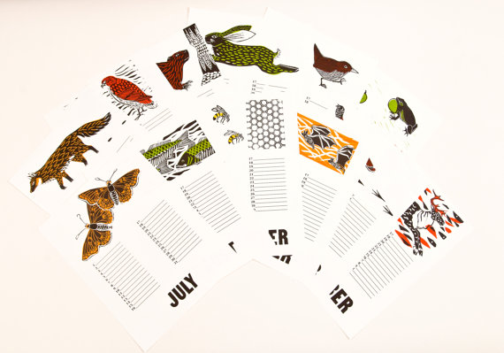 perpetual-calendar-wildlife