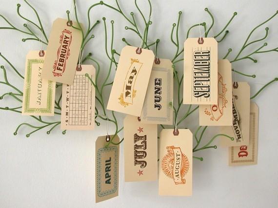 perpetual calendar tags
