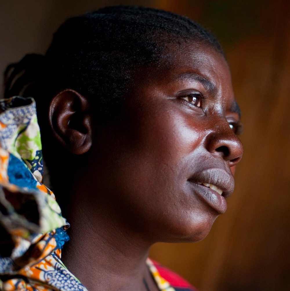 Valonia, survivor, mother of 6, and heroine for helping her sisters overcome and avoid the violence she has suffered in the Democratic Republic of Congo.