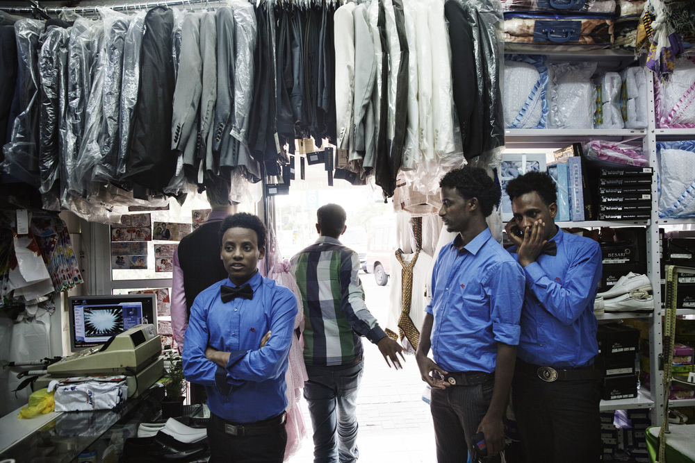 A Store in Neve Sha'anan, an area in Tel Aviv where African asylum-seekers have opened stores and businesses.