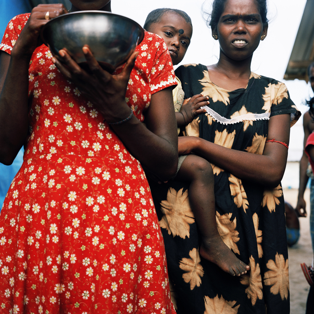 Women in IDP camp, Batticaloa, Sri Lanka, 2007.