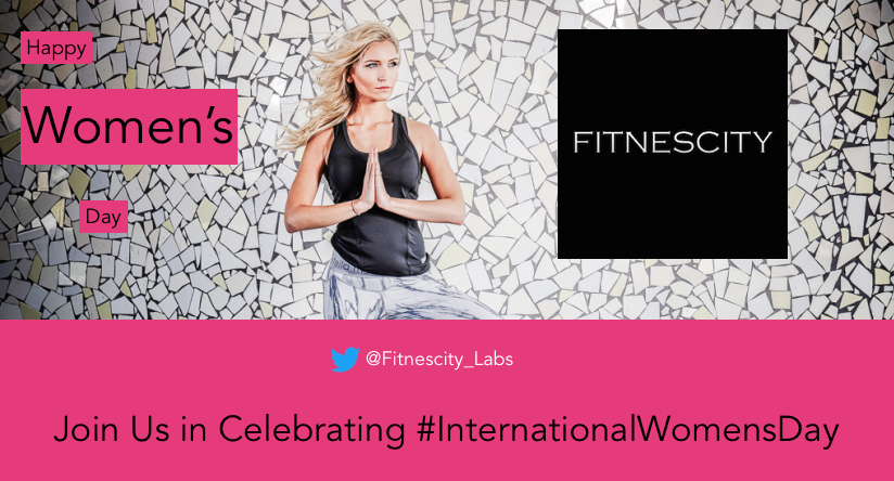 Happy International Women's Day!    In honor of this day, we'll be celebrating women all day long. Join us:   @Fitnescity_Labs    |    @Fitnescity