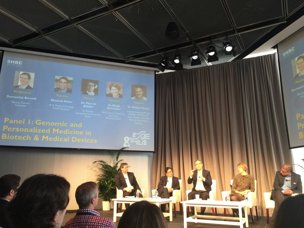 Panel on Personalized Medicine - The  MIT  Healthcare and BioInnovations Conference. Photo at the  MIT Media Lab .
