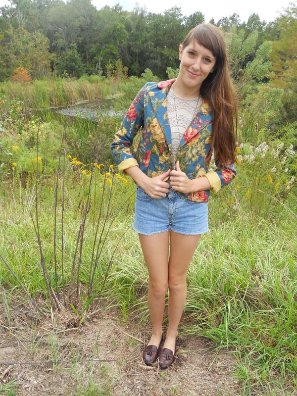 Floral Blazer, modeling myself