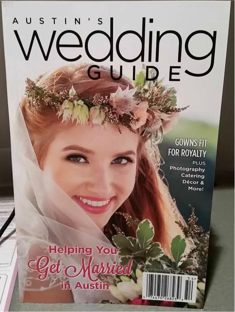 Austin Wedding Guide Magazine, November 2016  Cover Photo-Catherine Dress
