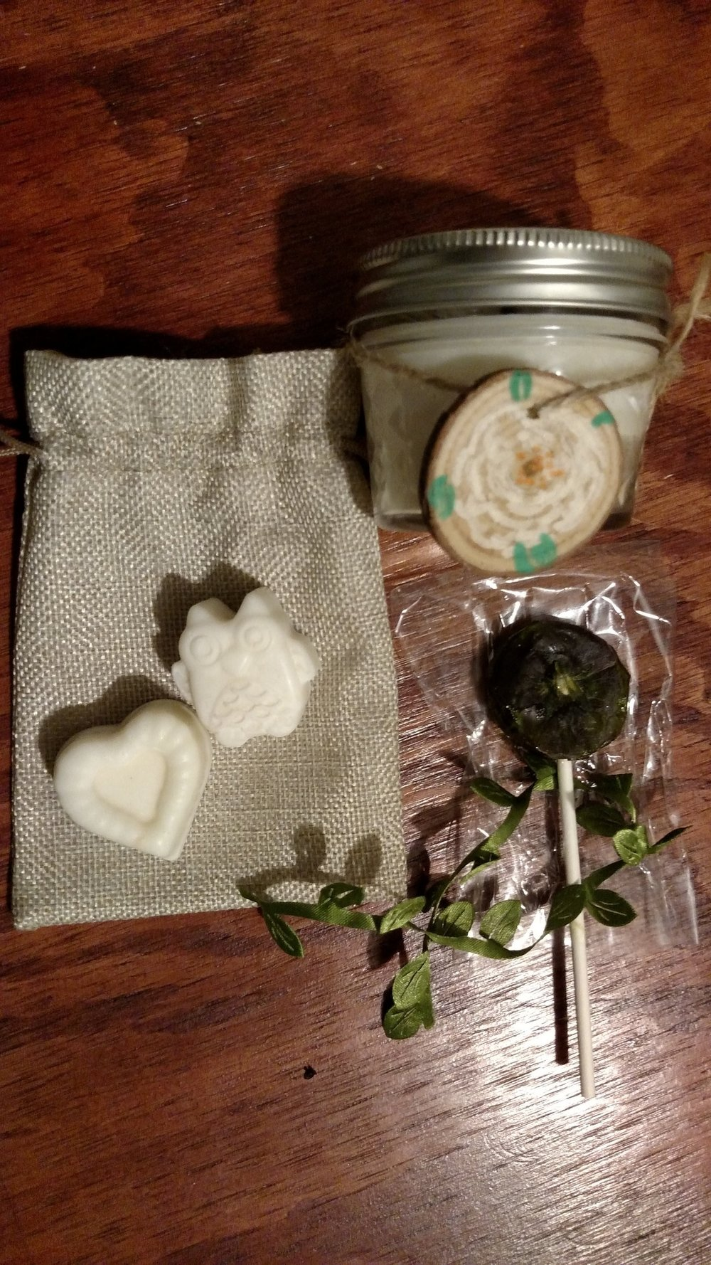 Me and Eric were not the only ones busy creating before the wedding. Our moms were also busy making handmade gardenia (our wedding flower) candles and wax melts, fairy lollipops and jam (not pictured).