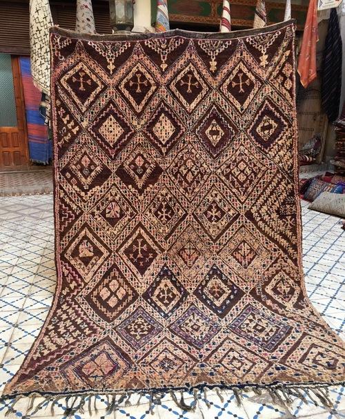 Attractive Vintage Moroccan Beni Mguild Rug — Soukie Modern SU26