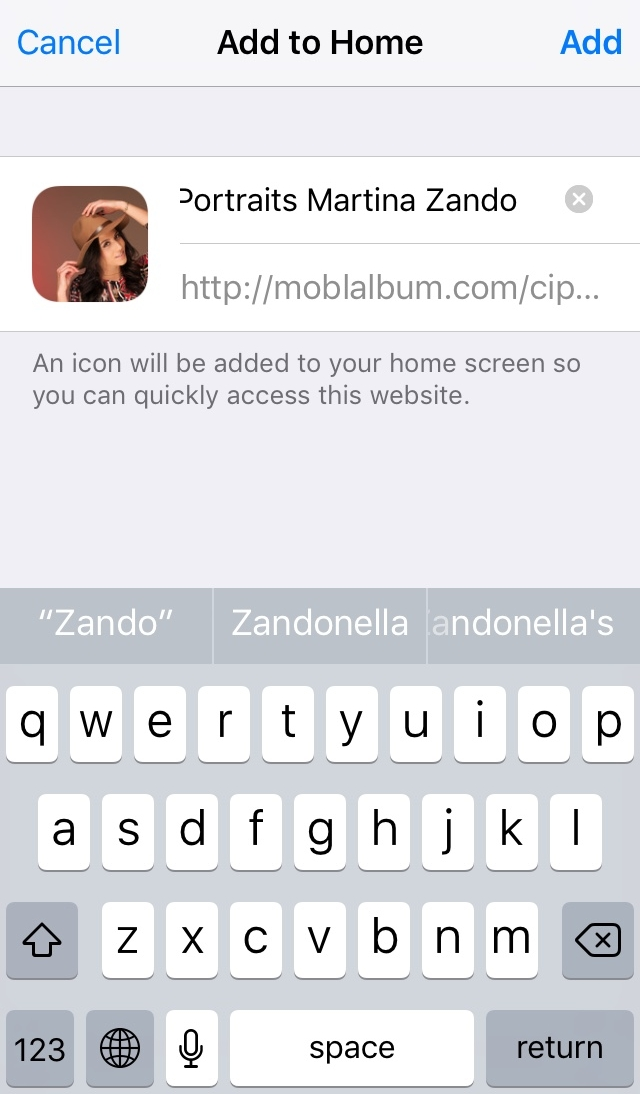 Add the App to your home screeen