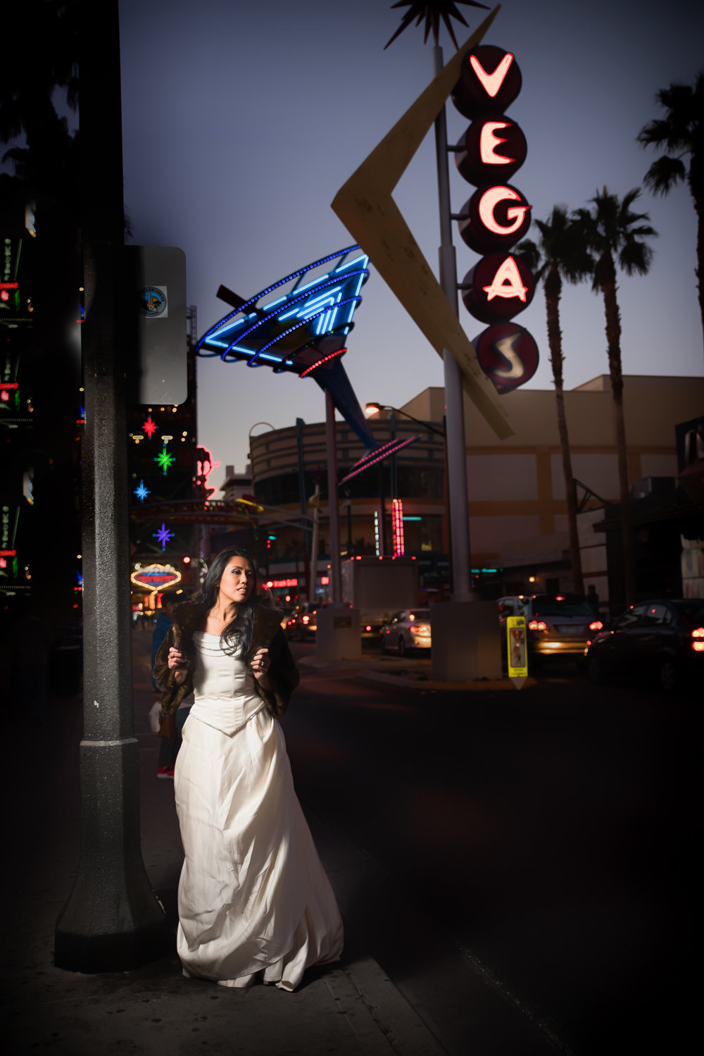las vegas downtown trash the dress