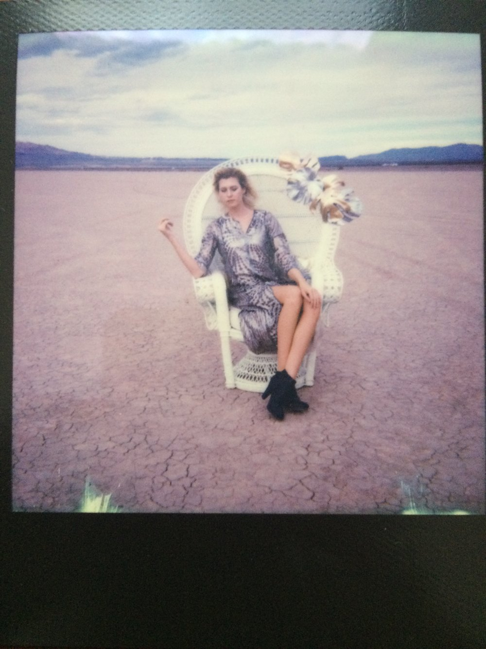 vintage style polaroid of outdoor las vegas photography