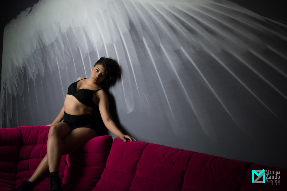 wall features boudoir photoshoot