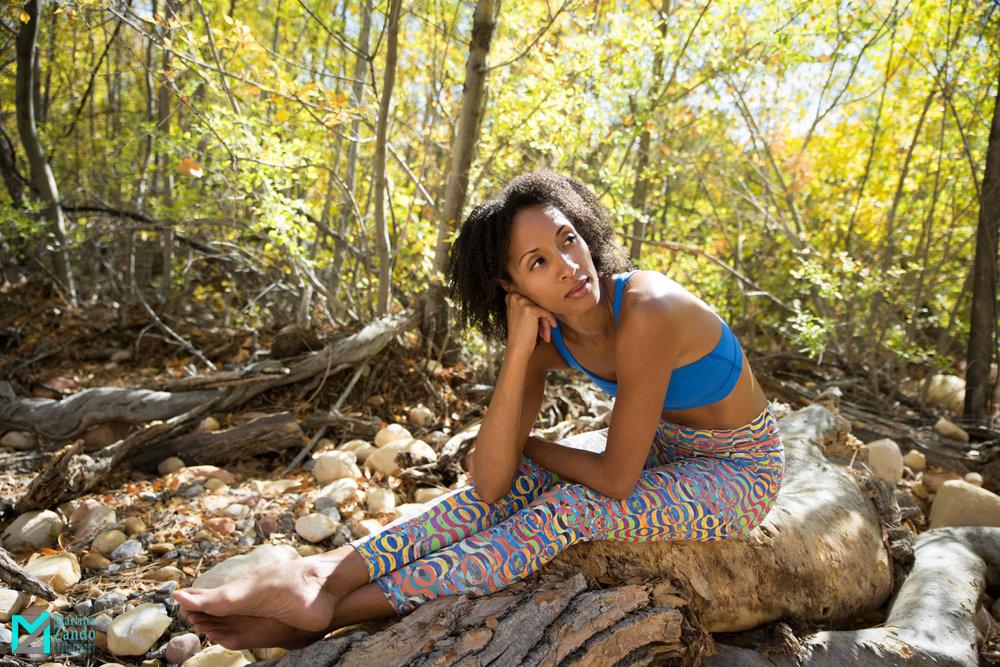 outdoor yoga photoshoot