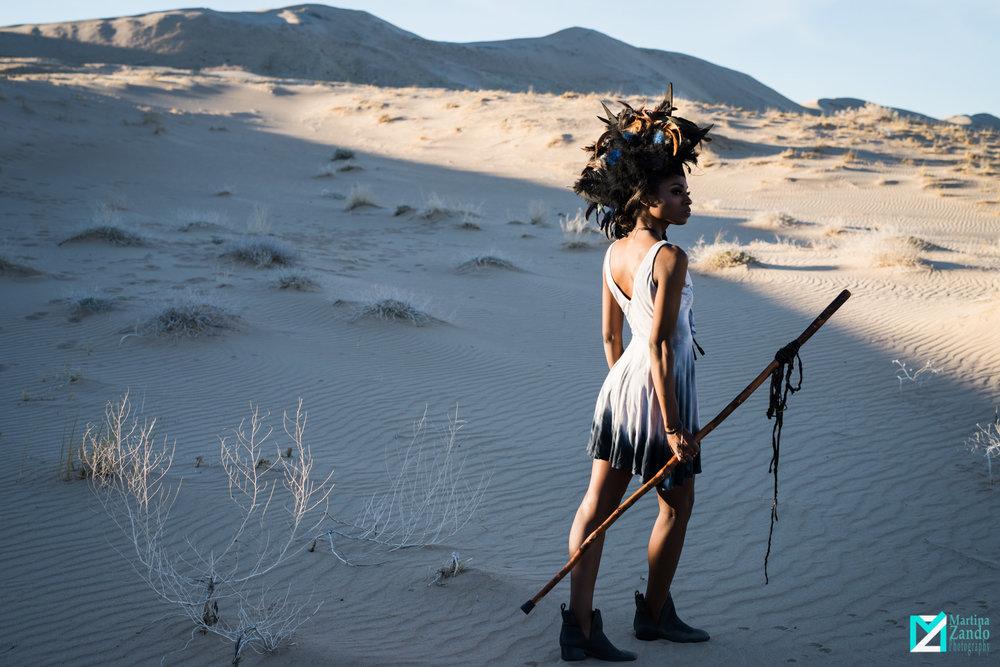sand dunes fashion photoshoot