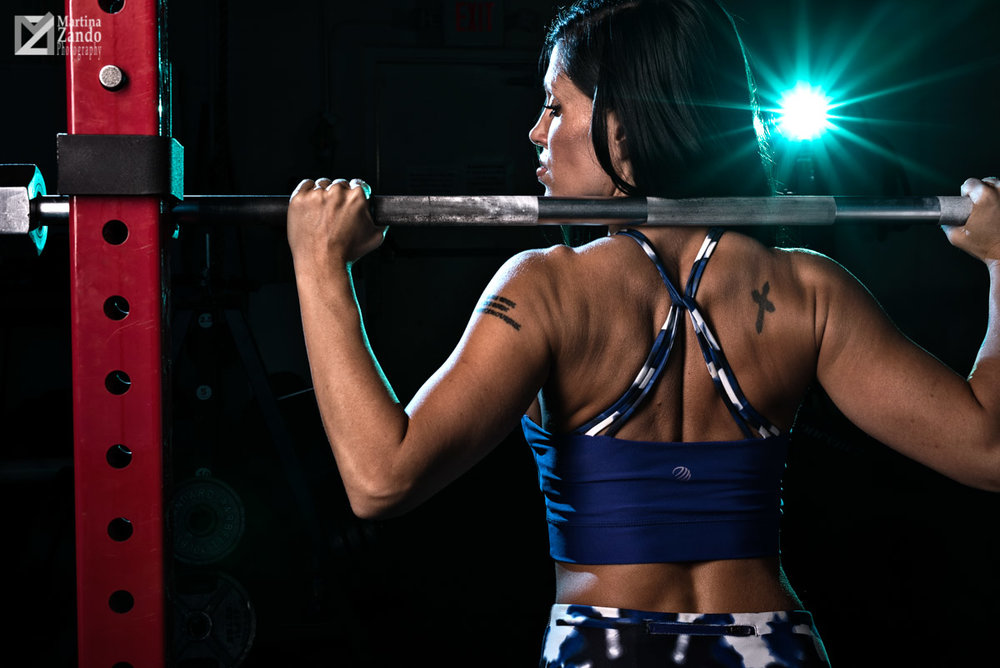 strong back muscle model