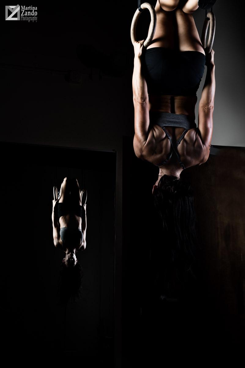 edgy  fitness photoshoot las vegas rings