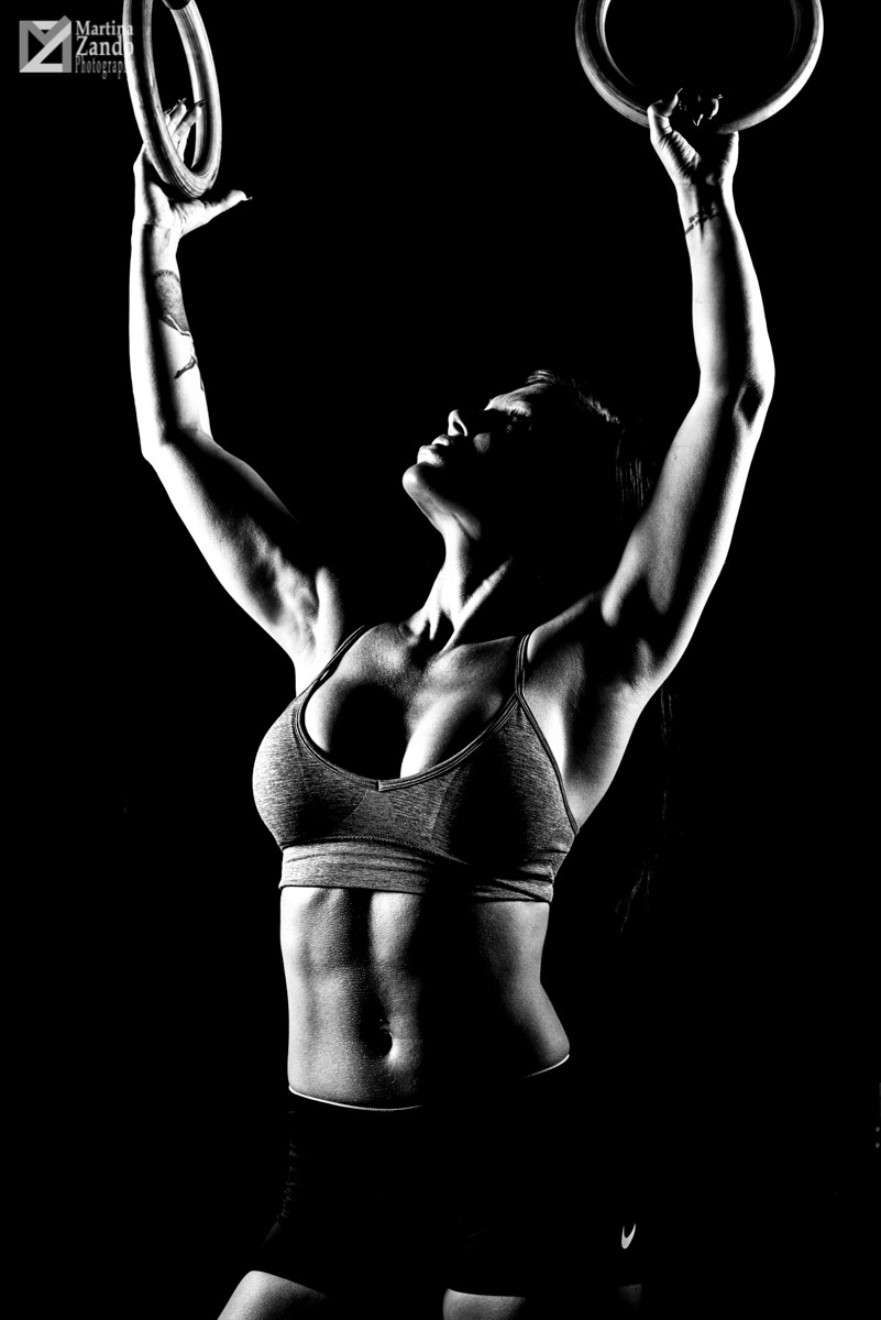 black and white fitness model las vegas