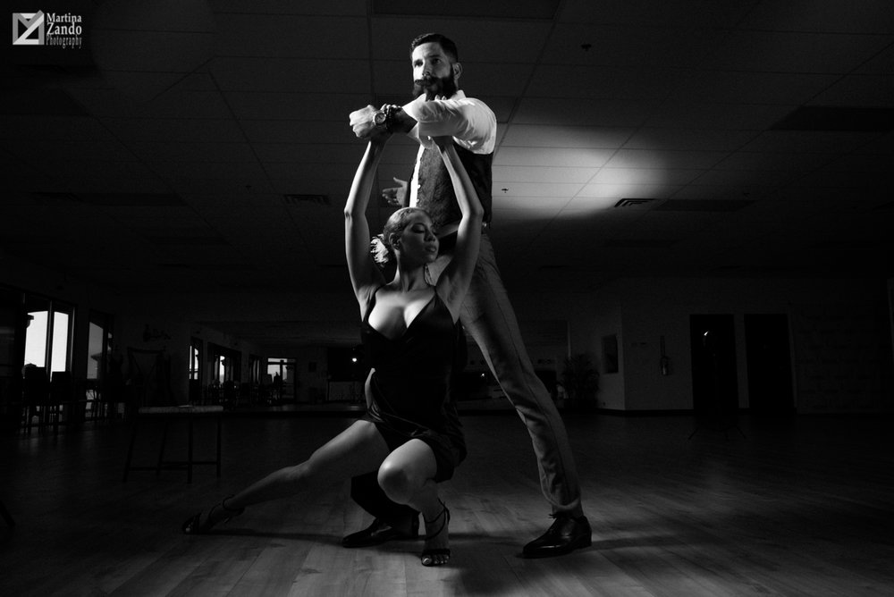 DancesportLV black and white photo tango dancers
