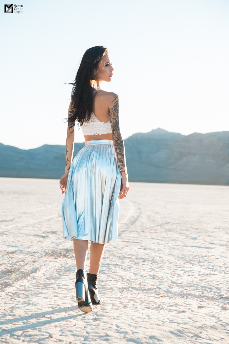 metallic shiny skirt desert fashion