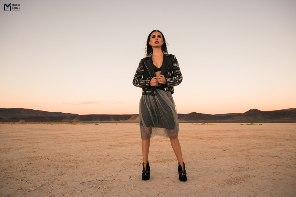 rock chic desert lifestyle fashion shoot