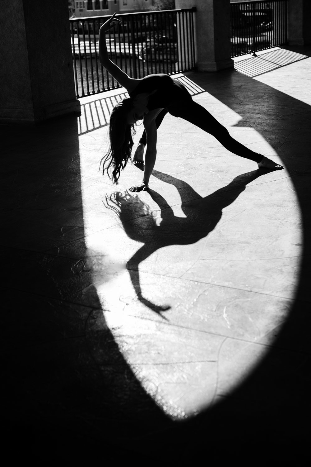 black and white dancer photo lake las vegas