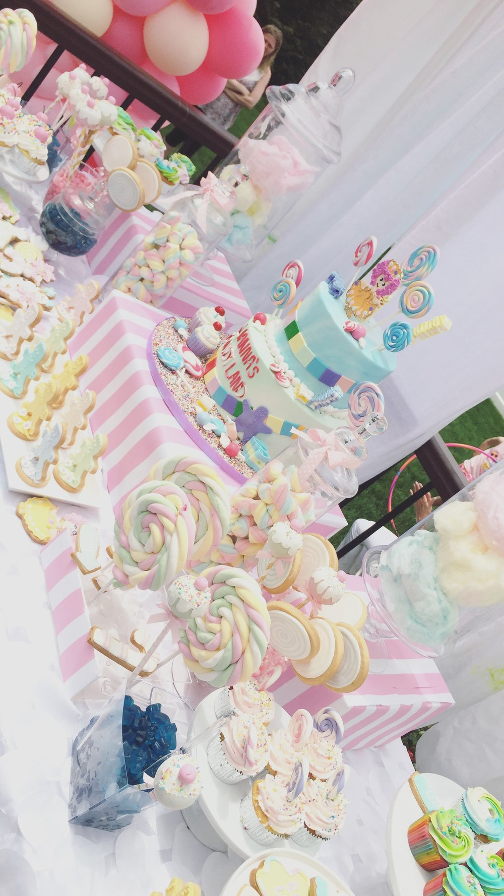 Pastel Candyland theme Birthday designed and executed by LLG Events